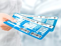 Air ticket in airport